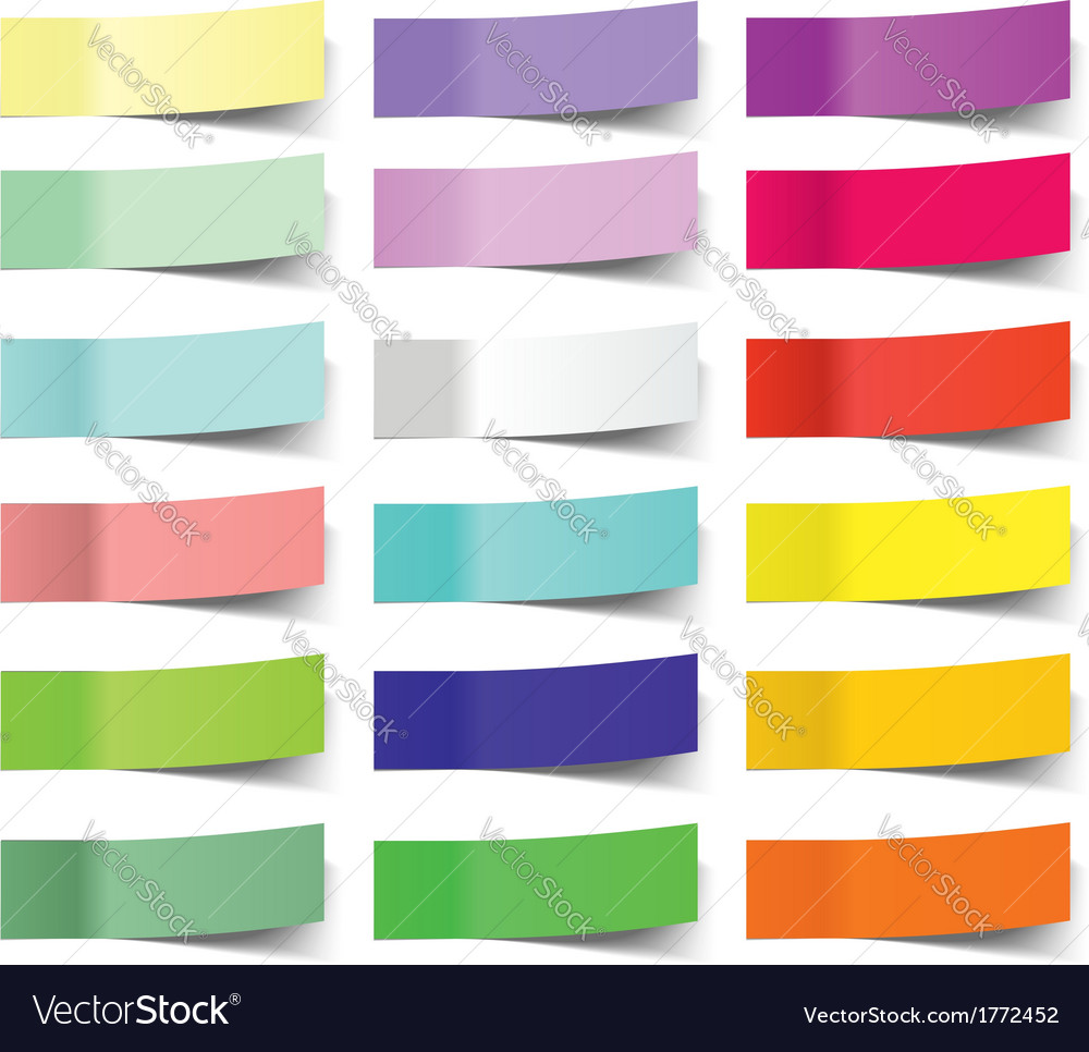 Collection of colorful sticky notes vector
