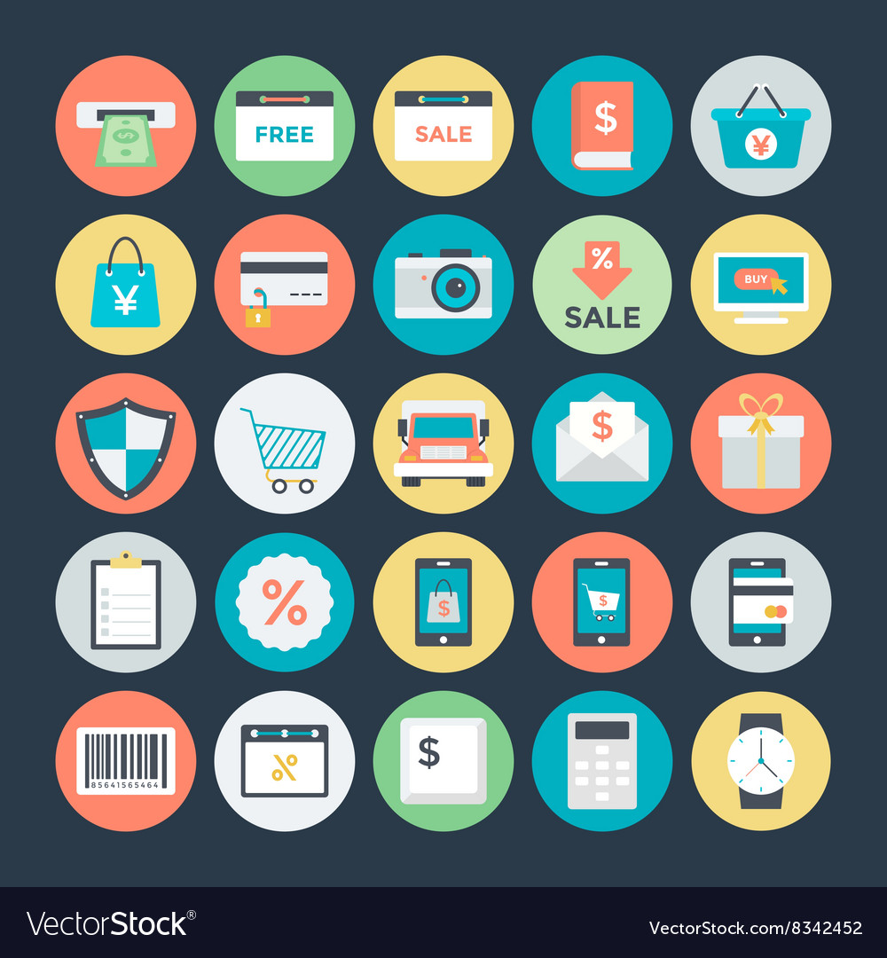 Shopping and commerce icons 2 vector