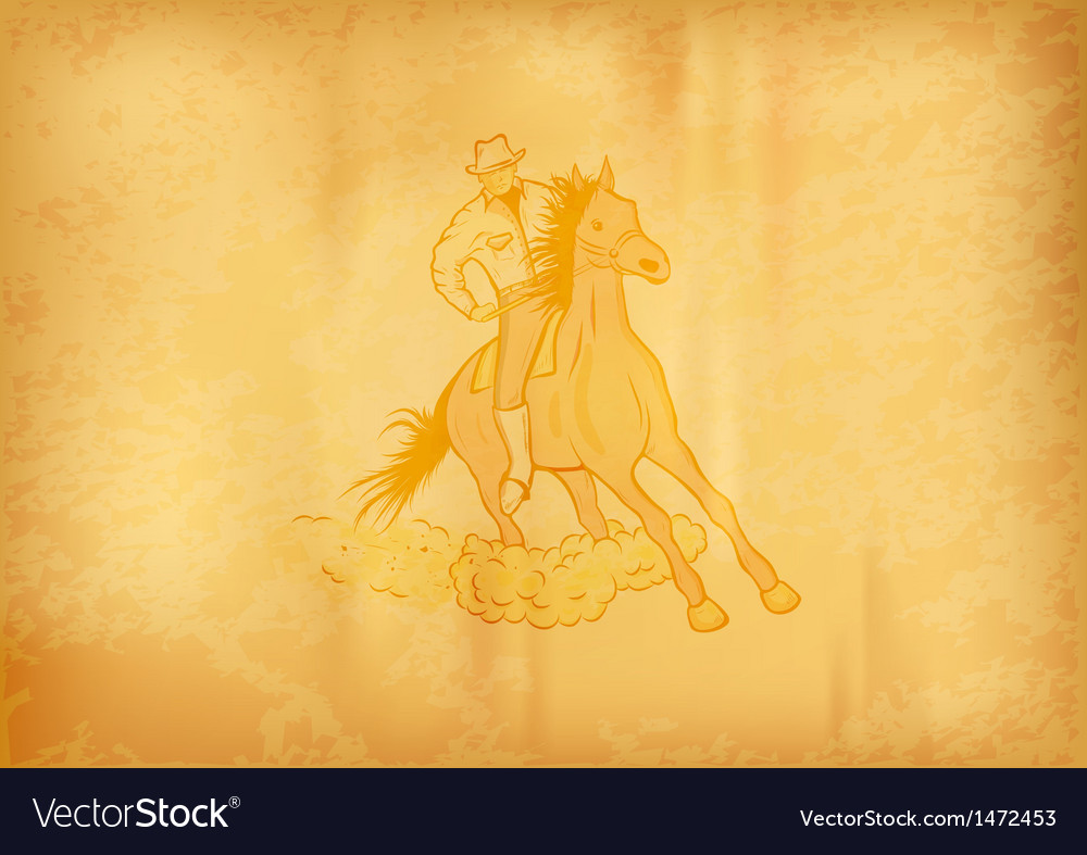 Background with horse western vector
