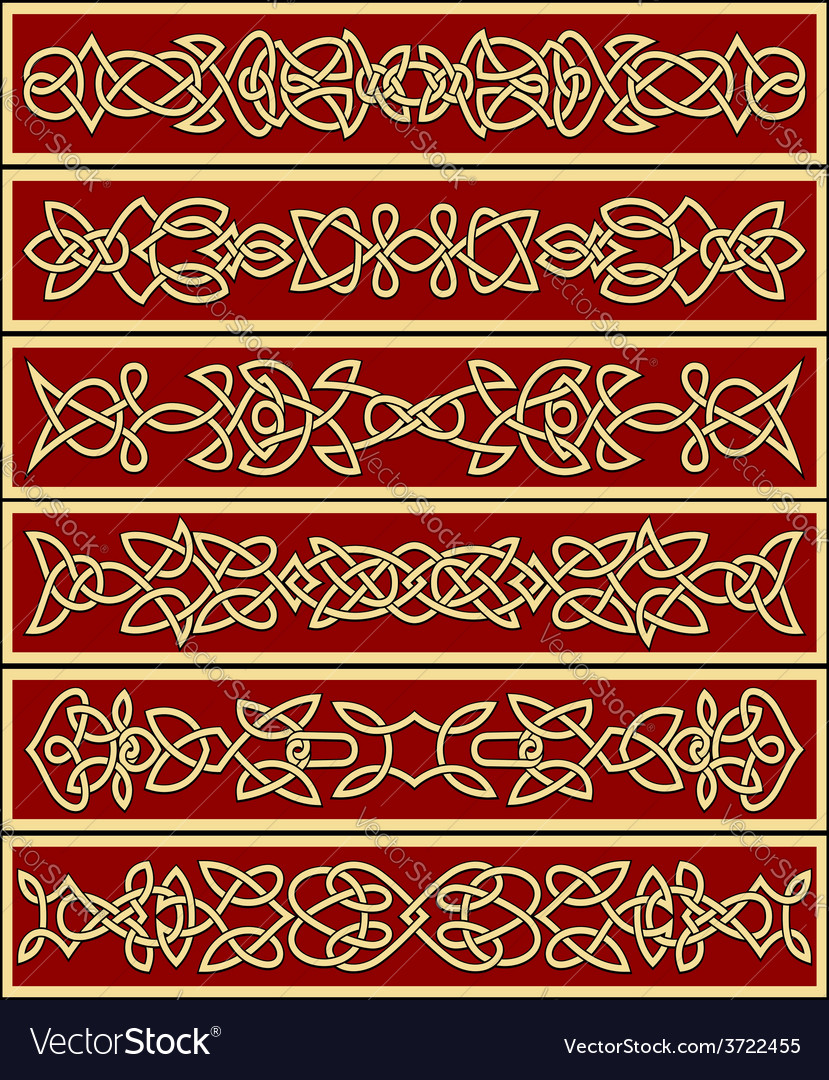 Floral traditional celtic knot ornaments vector