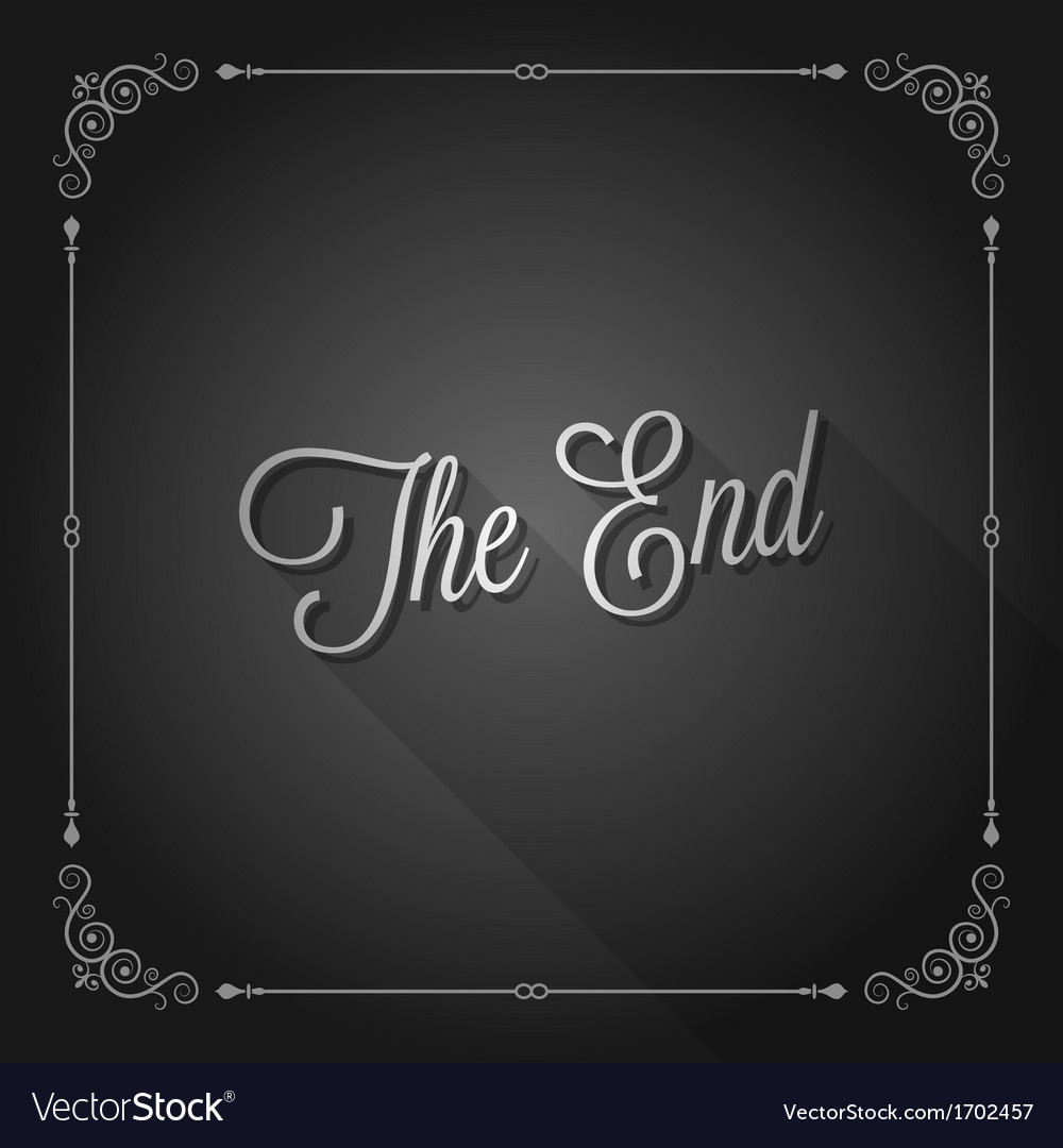 End sign movie ending frame vector
