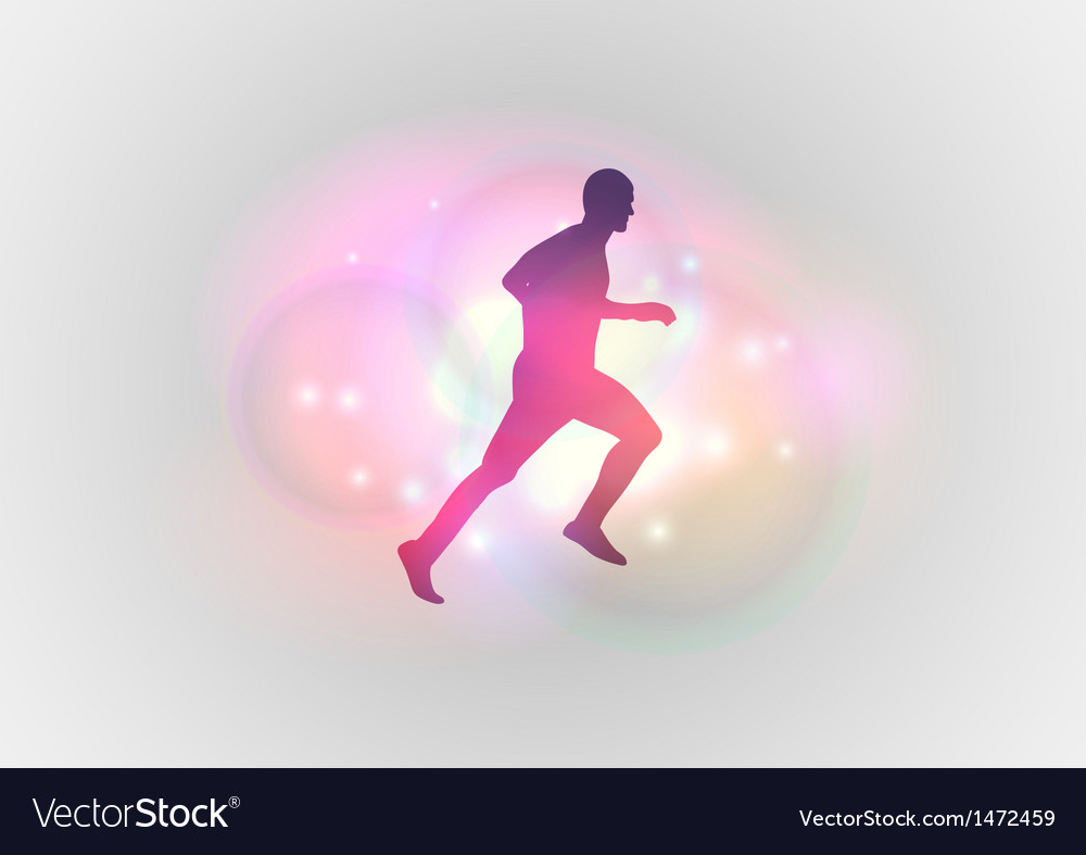 Sport abstract runner vector