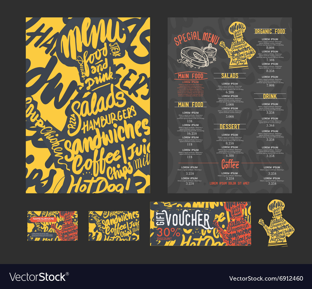 Creative menu template vector