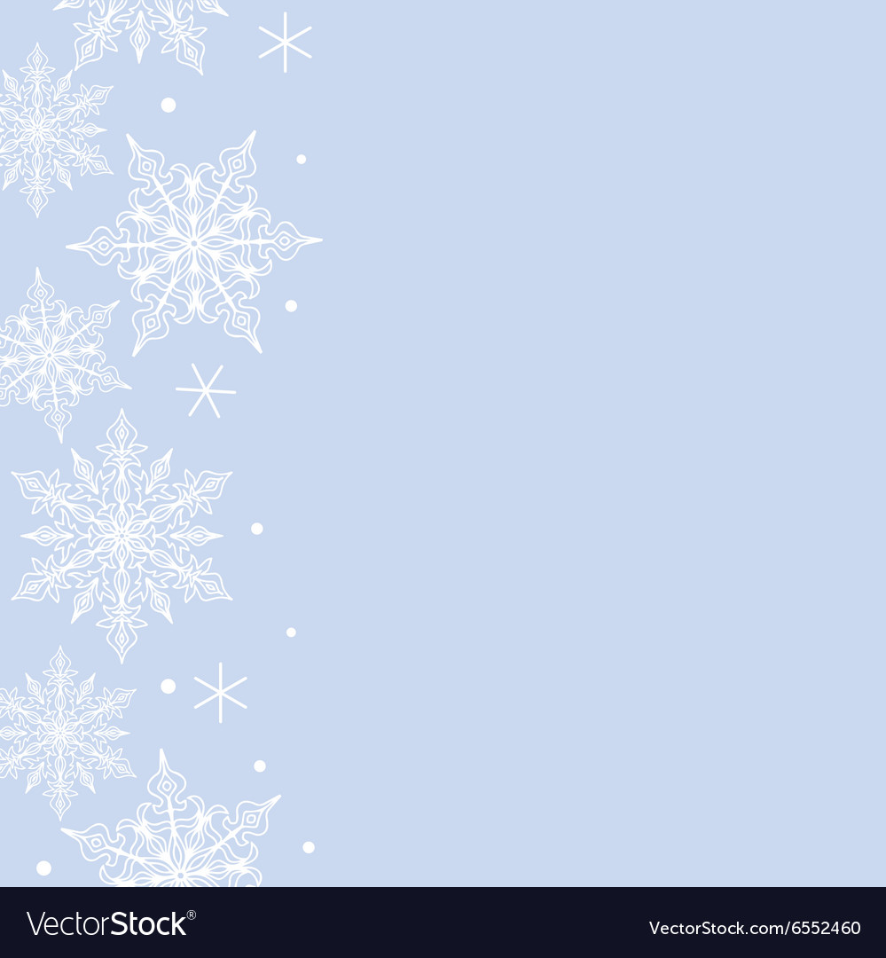 Lace snowflakes pattern border vector