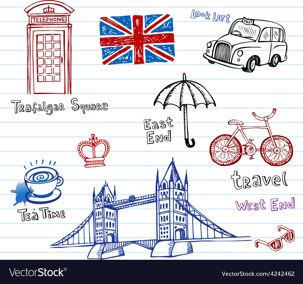 London doodles vector