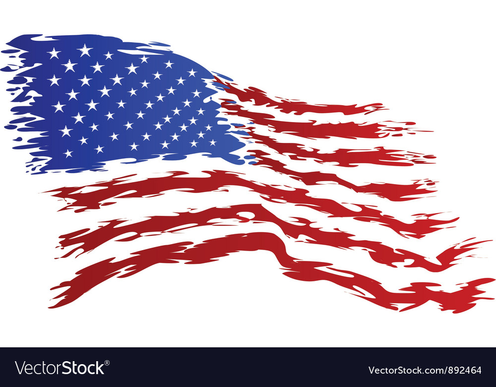 Usa flag grunge art vector