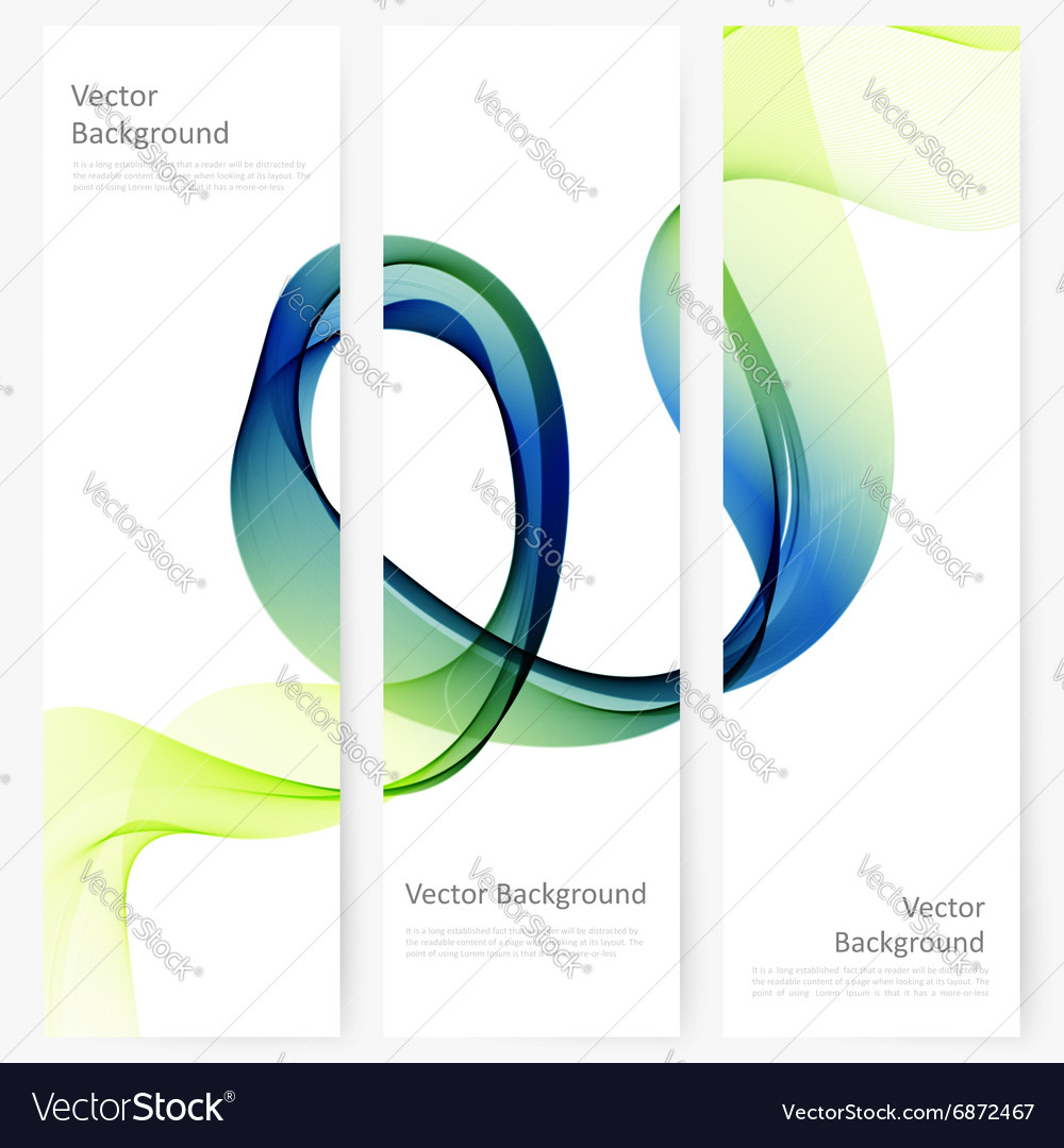 Abstract template vertical banner vector