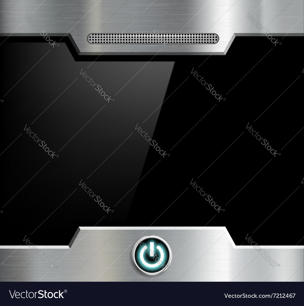 Futuristic black screen vector