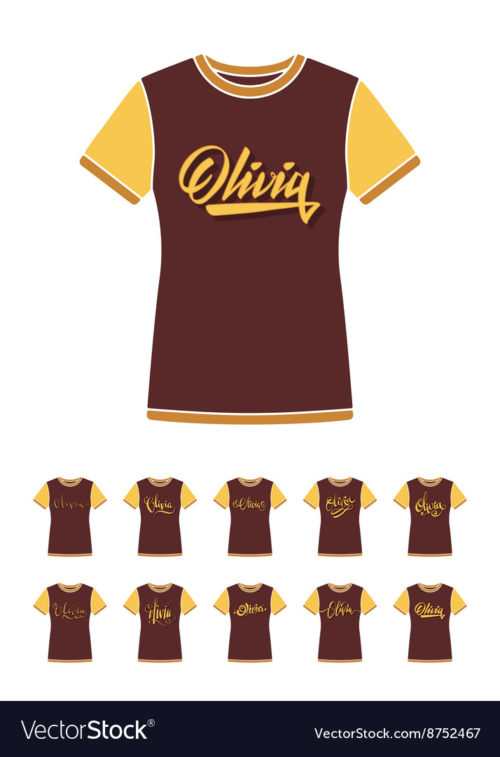Tshirt design with the personal name olivia vector
