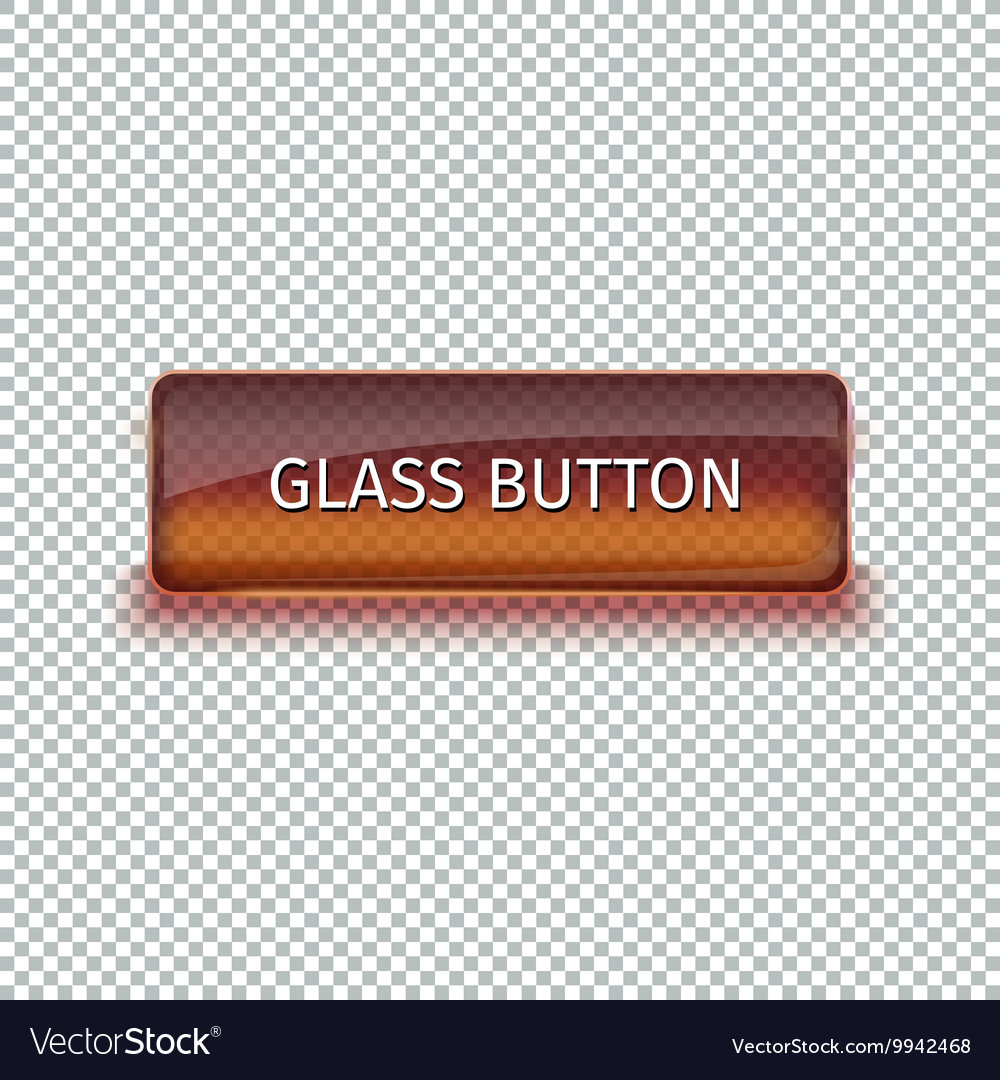 Set of colored glass buttons for web interface vector