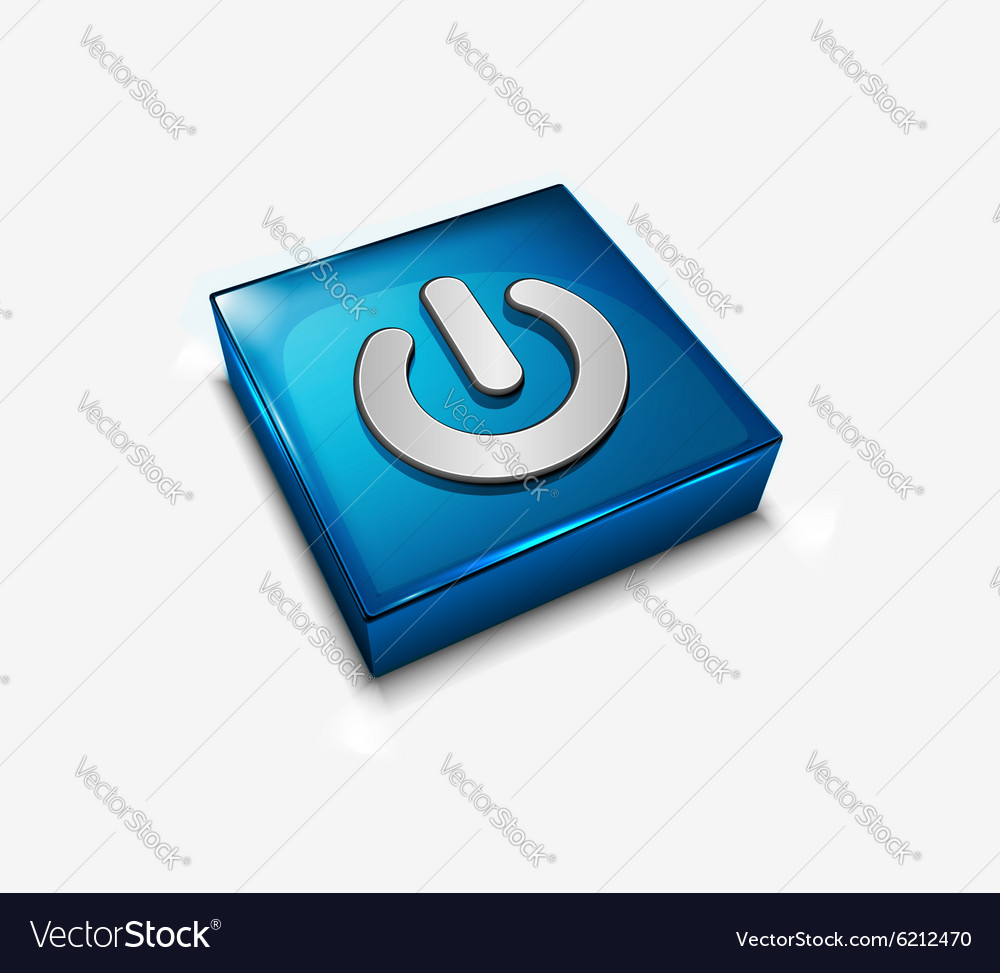 Power on or off button vector