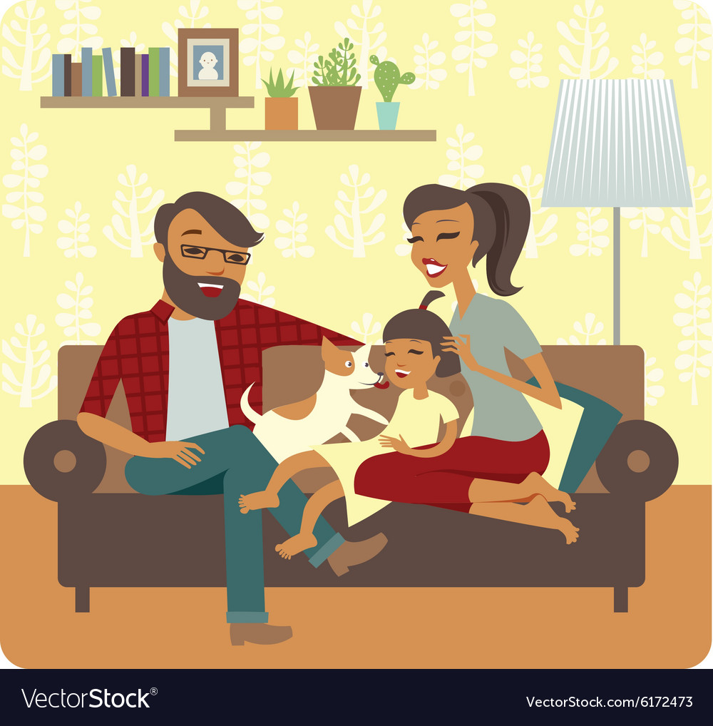 Famuly flaying with child vector