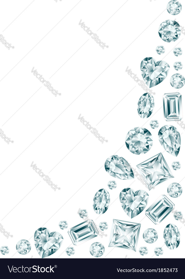 White background with diamonds vector