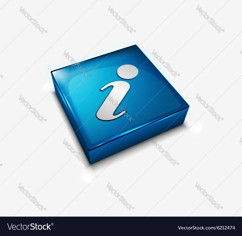Information web icon vector