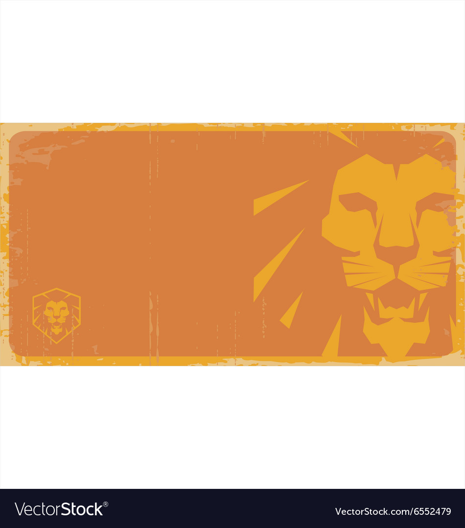 Lion poster lion sign vector