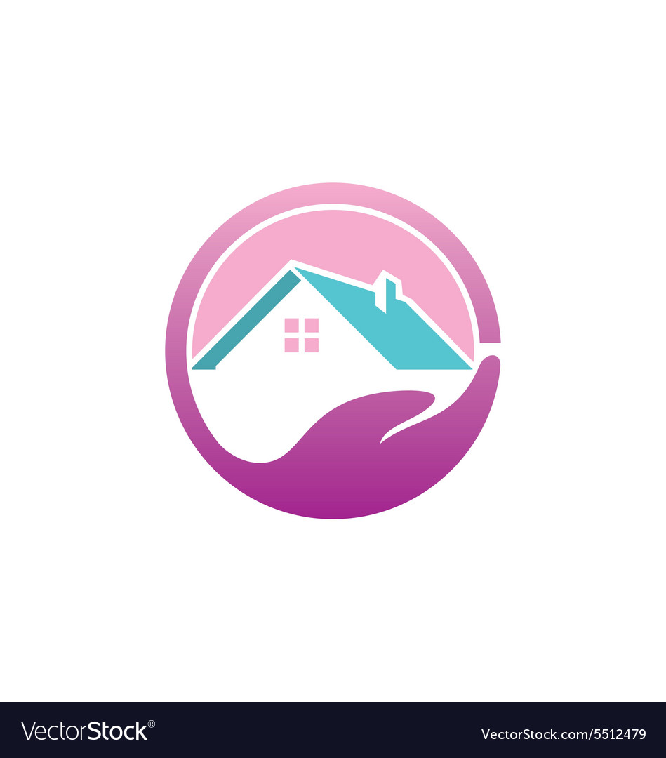 Save house realty abstract logo vector