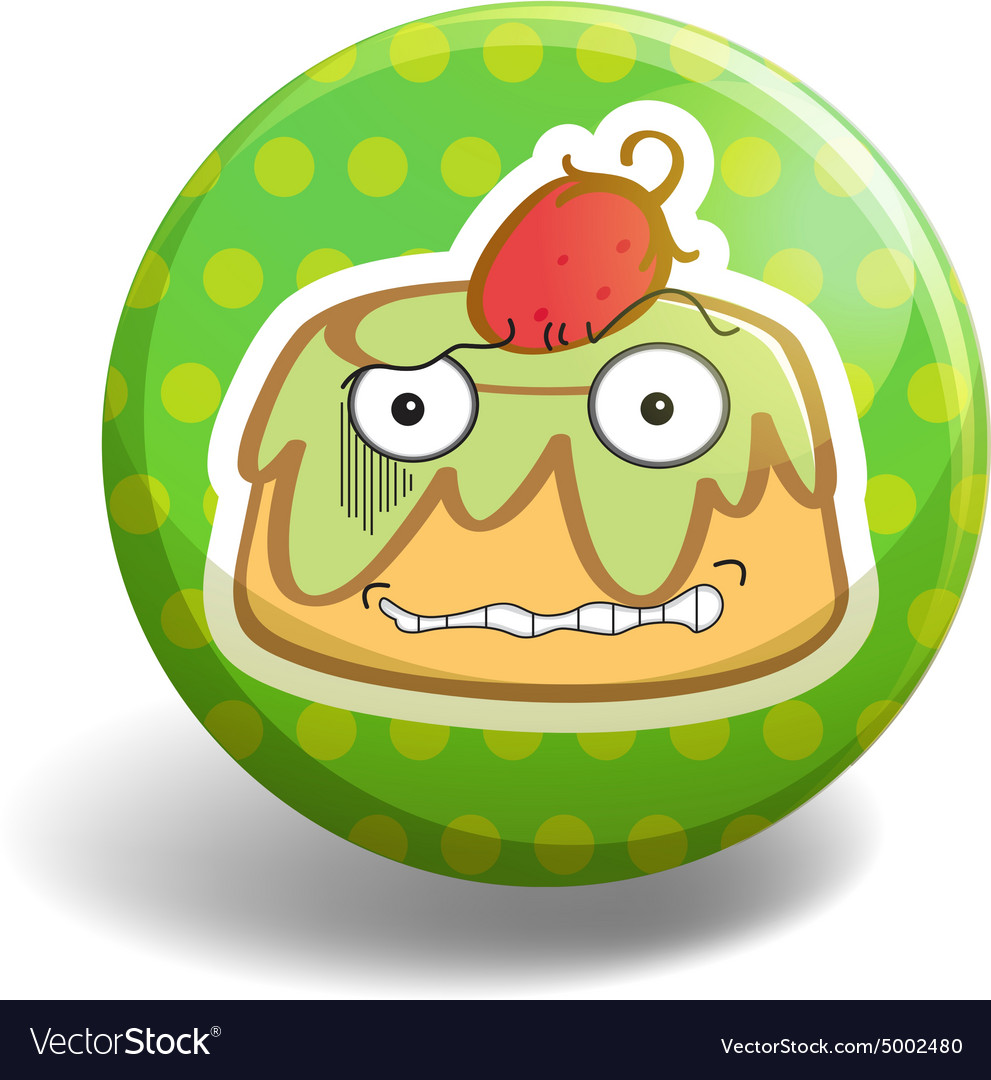 Pudding badge vector