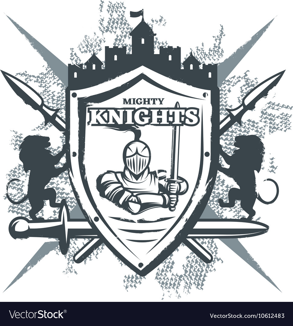 Mighty knights print vector