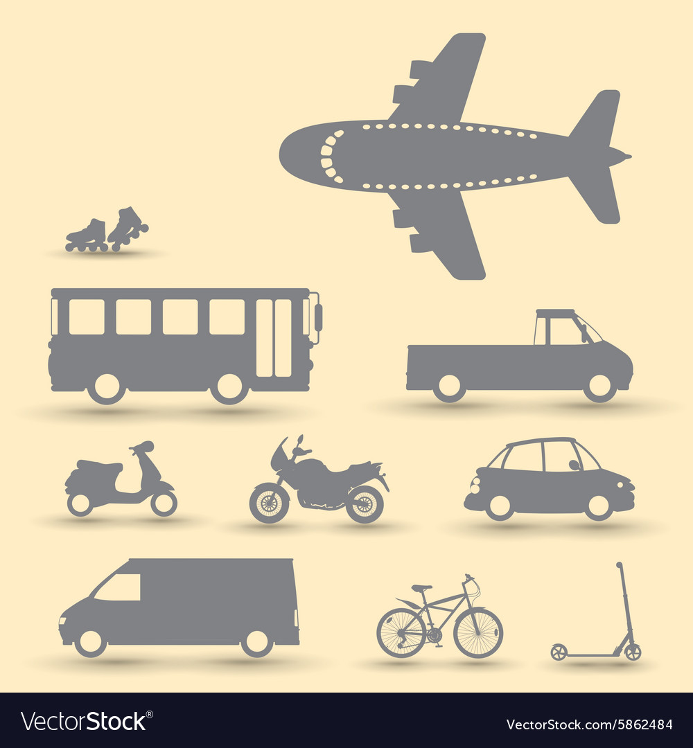 Traffic vehicles vector