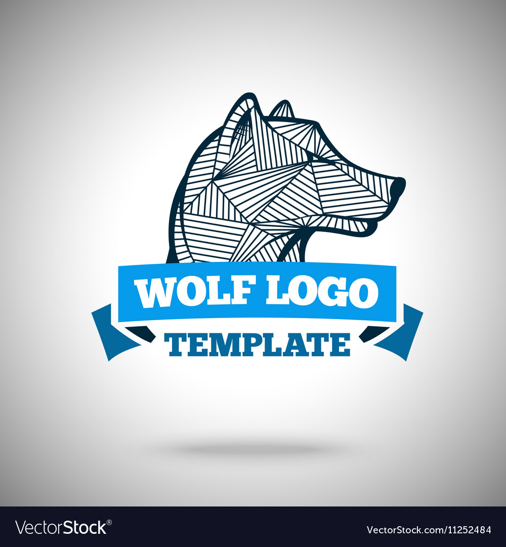 Wolf logo template for sport teams vector