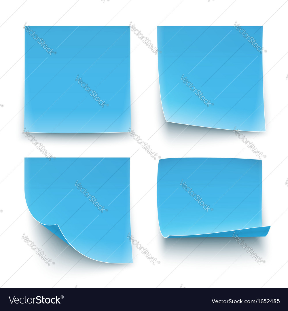 Papers stickers vector