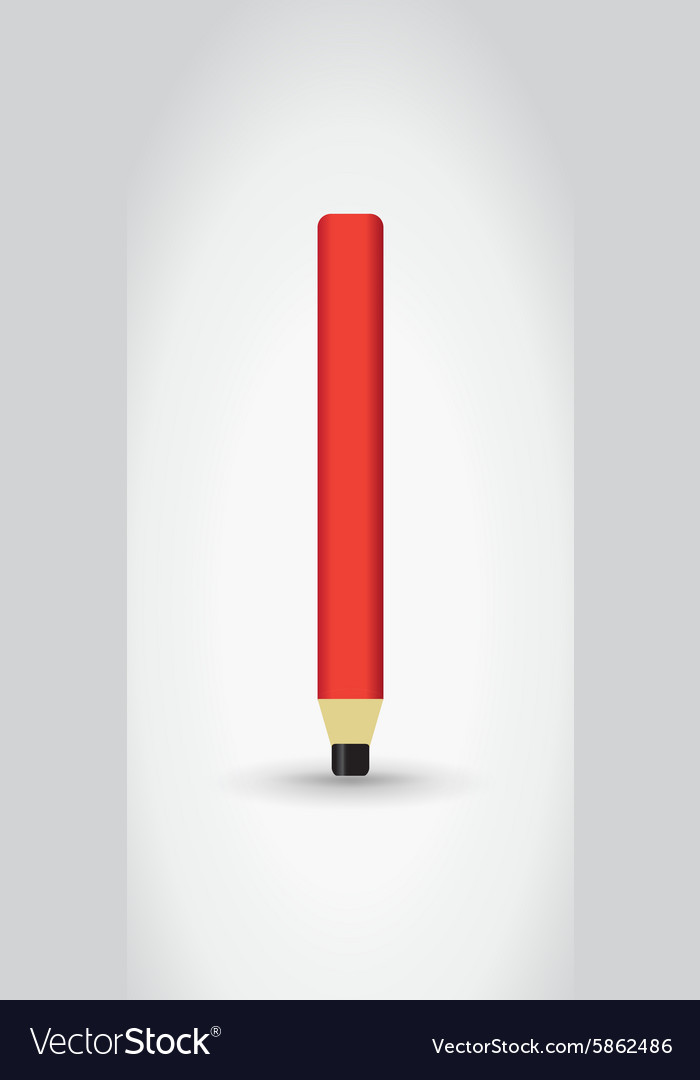 Carpenter pencil vector