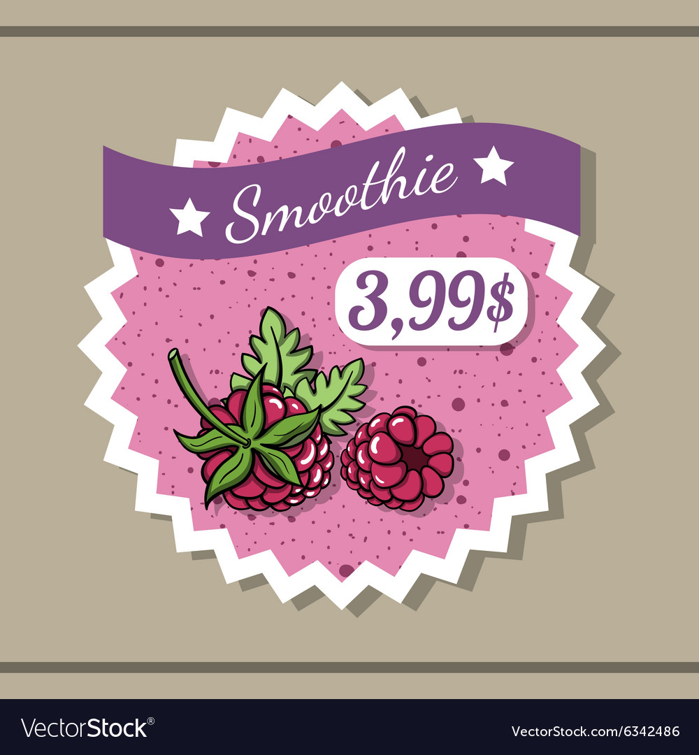 Smoothie sticker 9 vector