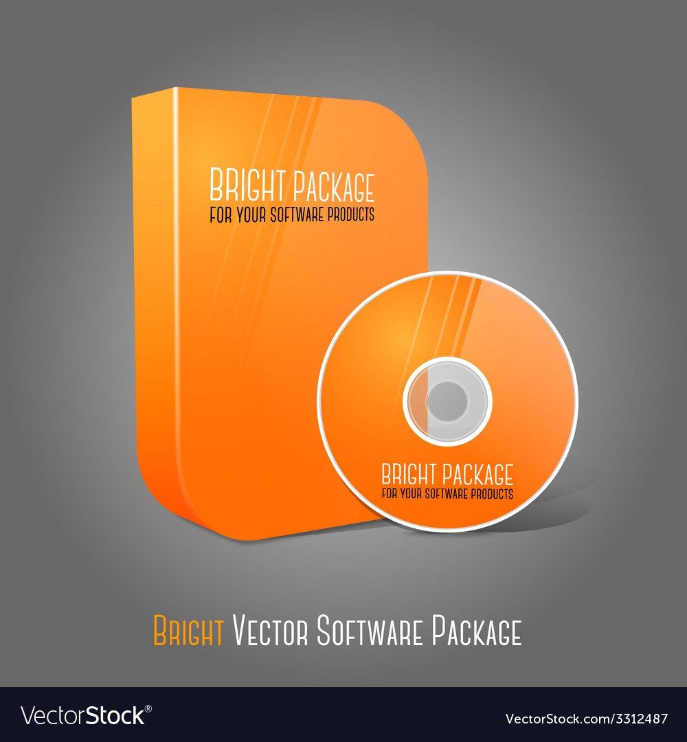Bright realistic orange isolated dvd cd blueray vector