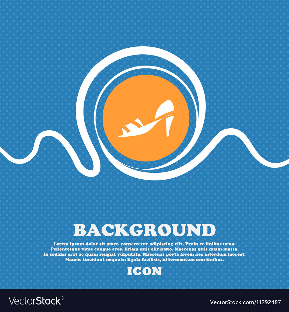 Shoe icon sign blue and white abstract background vector