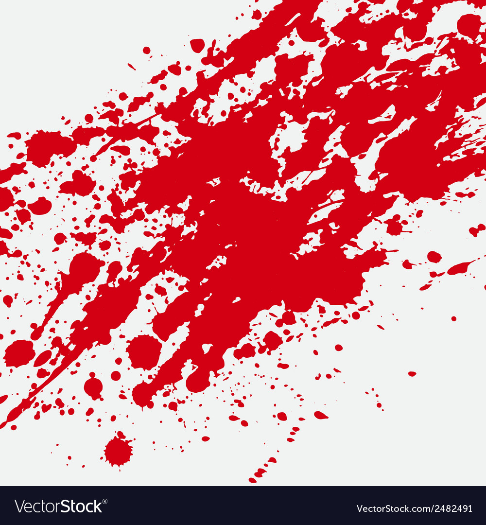 Red bloody blots and splatters vector