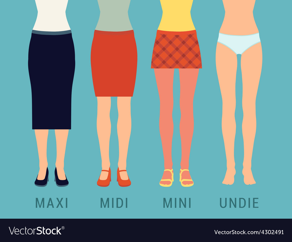 Various skirts and underwear vector