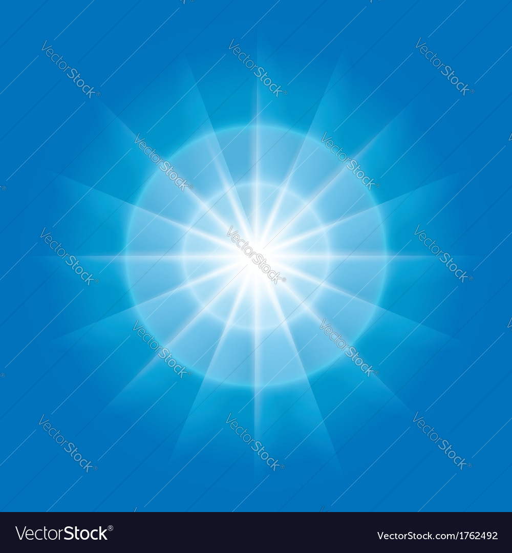 Abstract radial element with rays vector