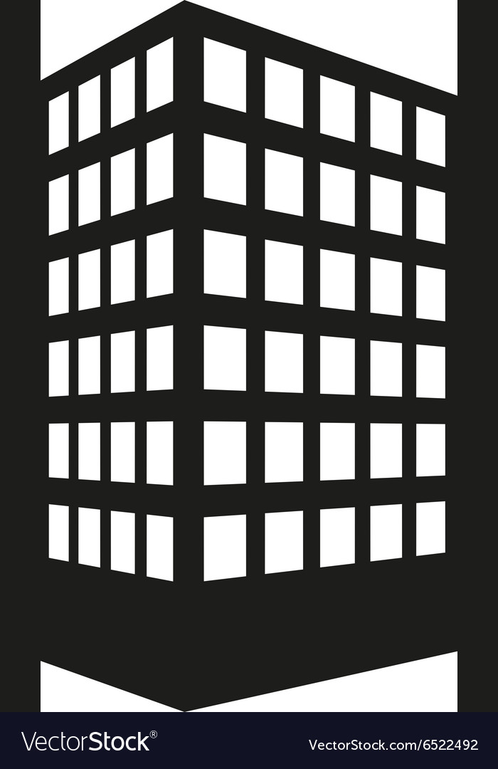 Building icon apartment and skyscraper vector