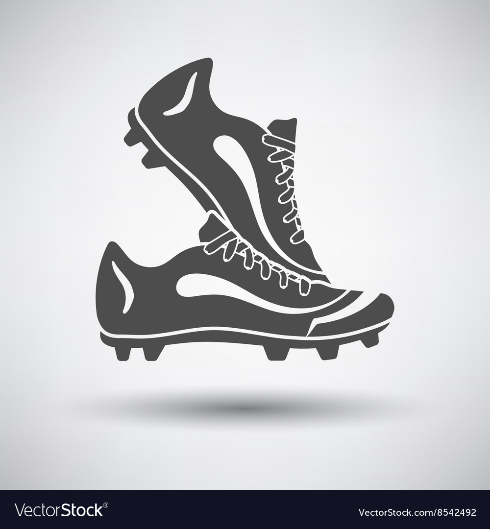 Soccer pair of boots vector