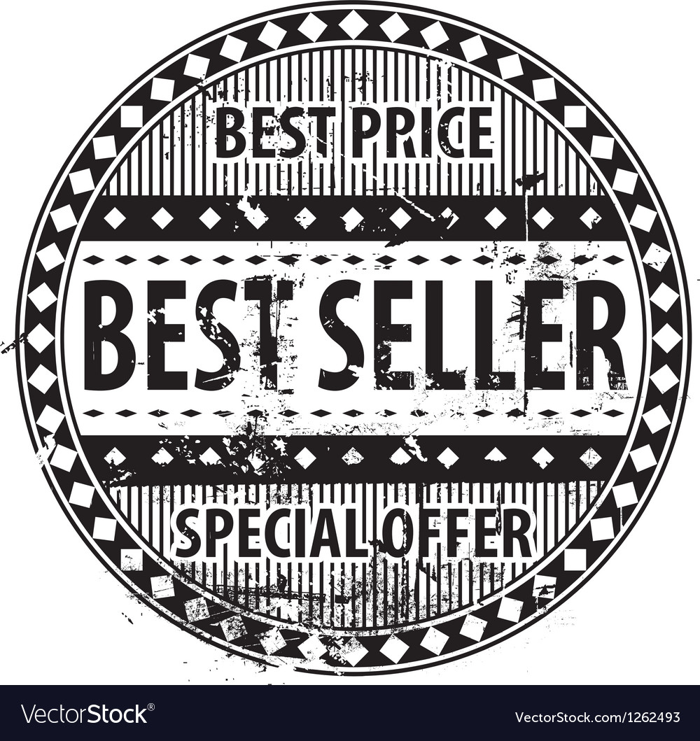 Best seller rubber stamp grunge vector