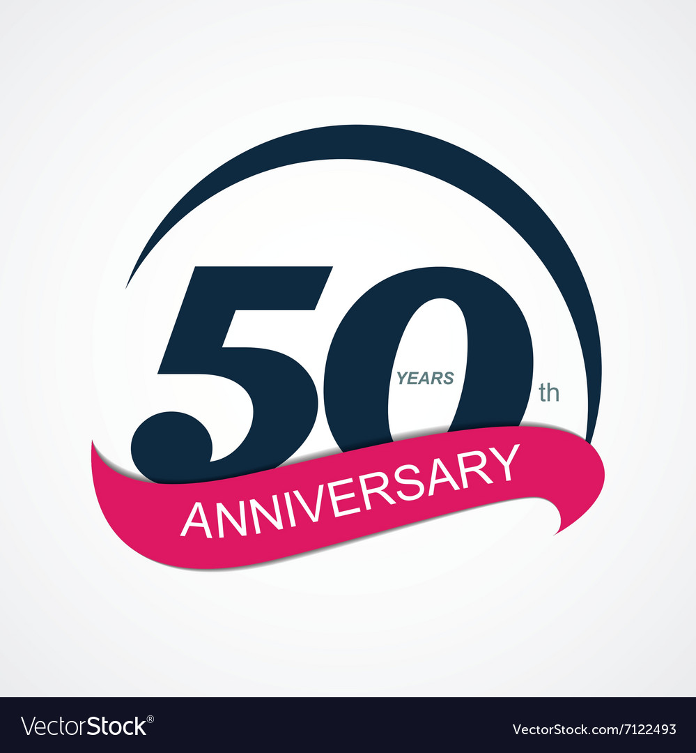 Template logo 50 anniversary vector