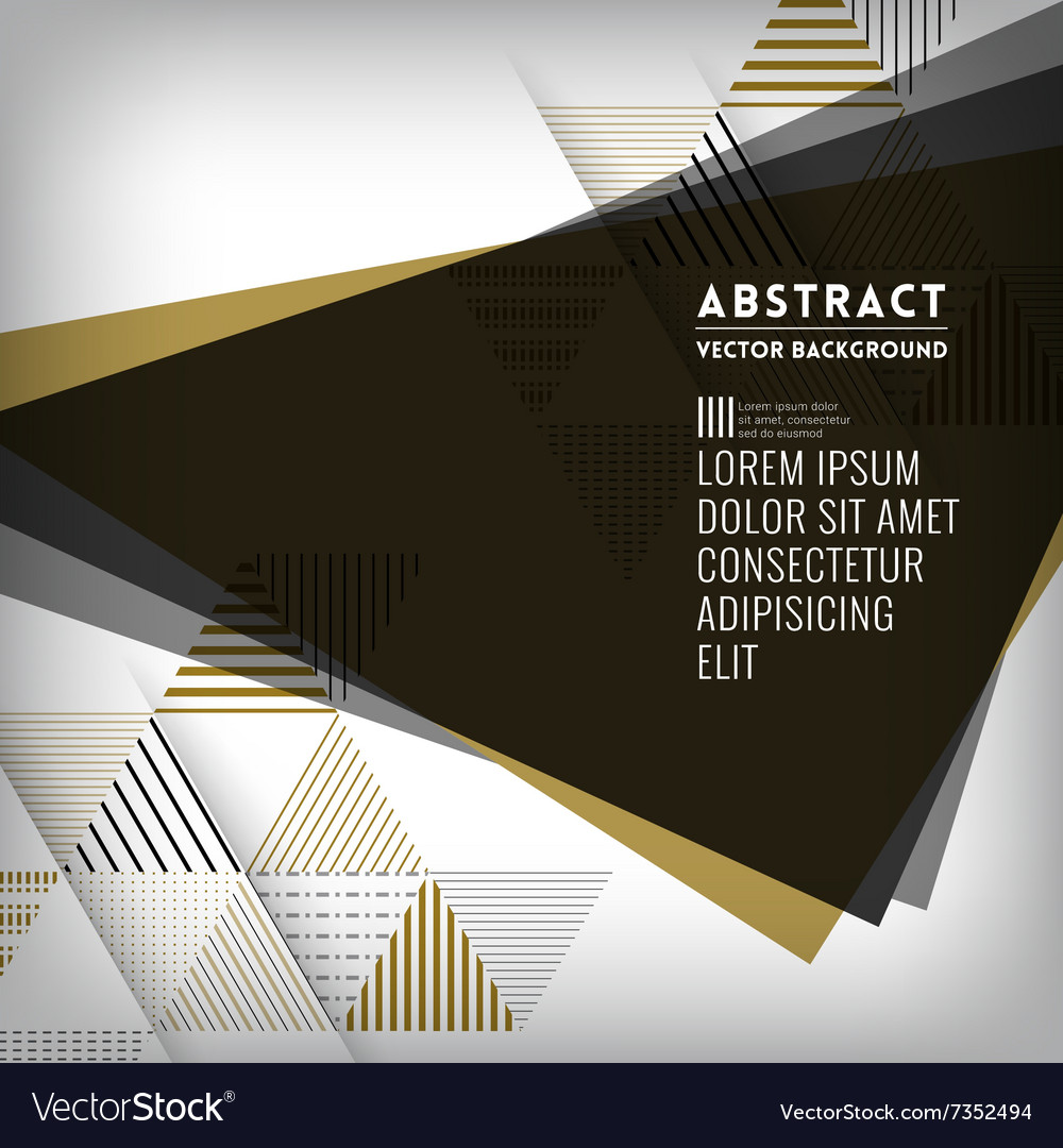Abstract black triangle shape background vector