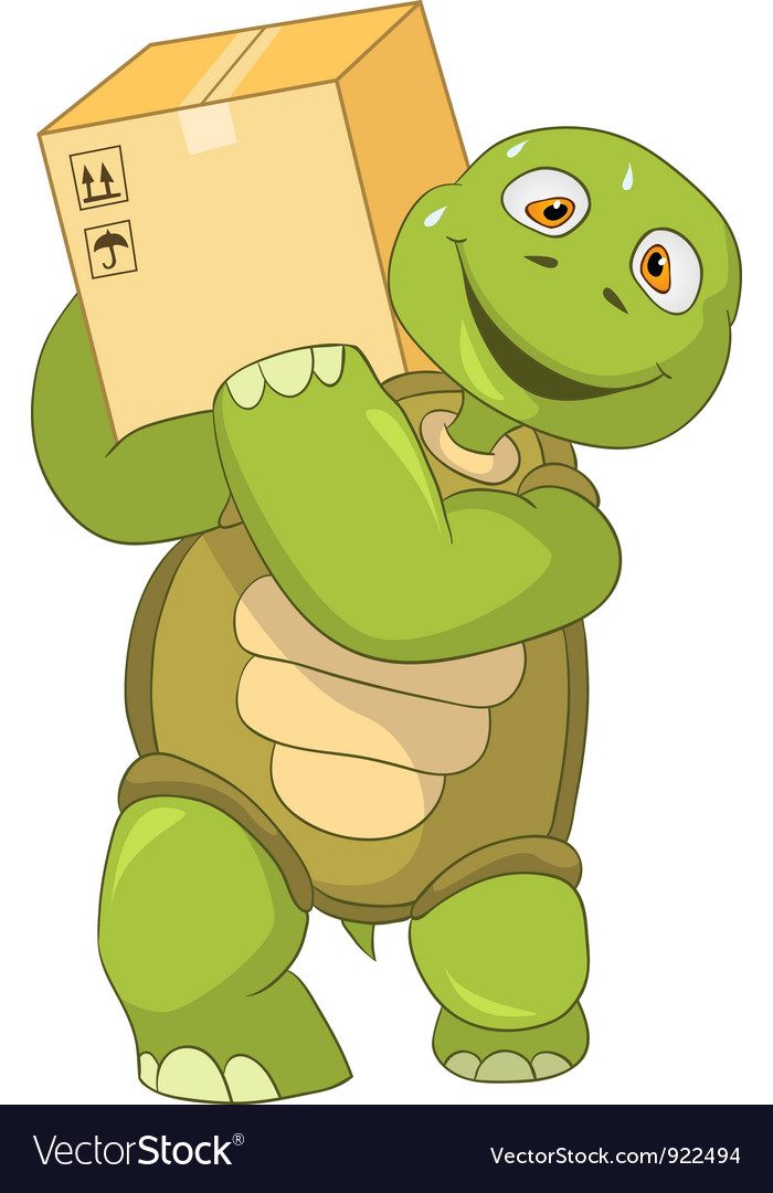 Funny turtle worker vector