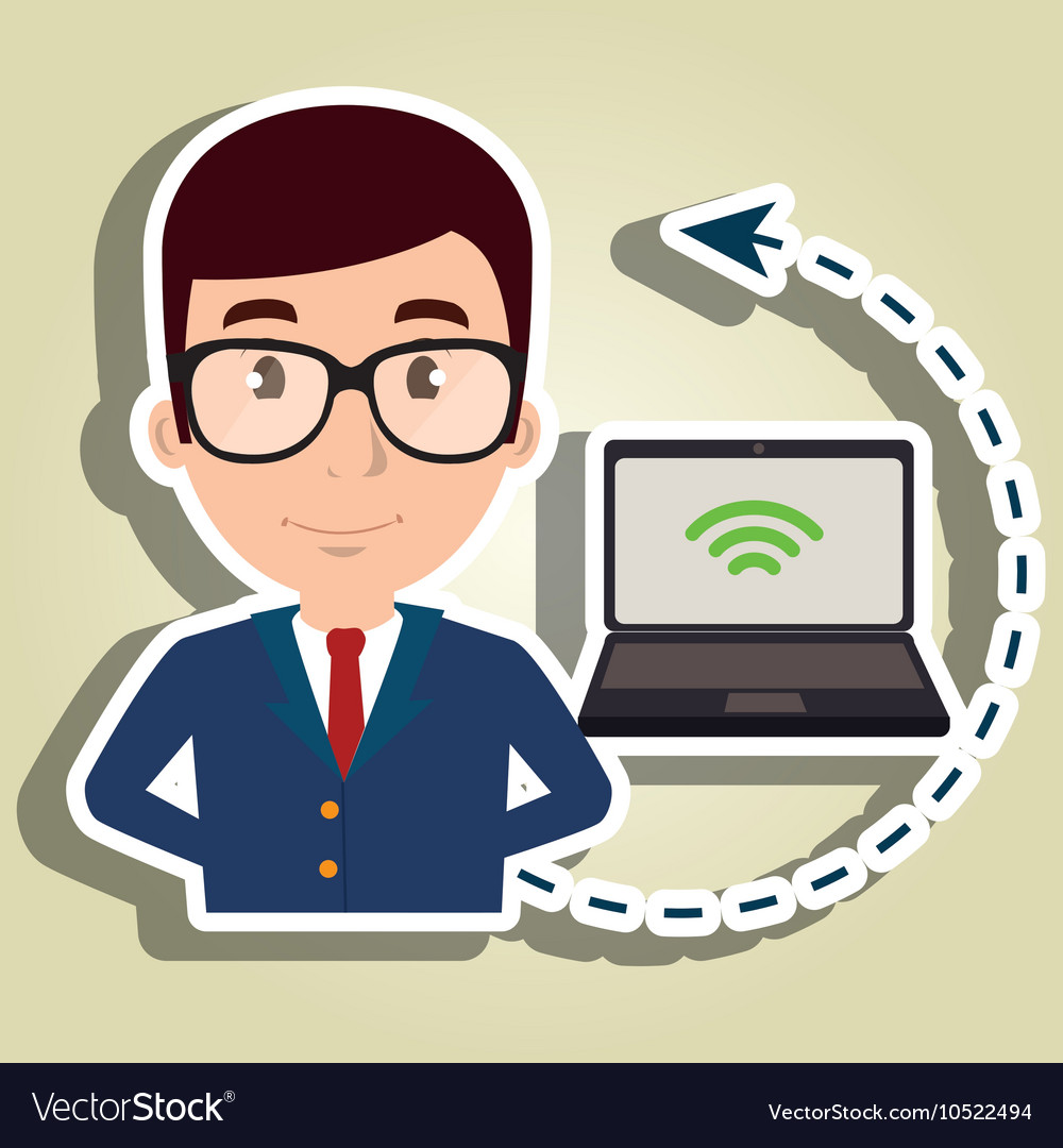 Manager hotel employee service vector