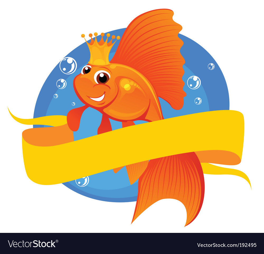 Goldfish and banner vector