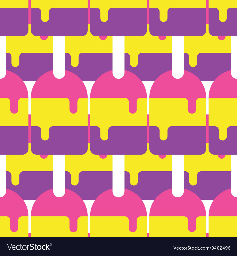 Seamless popsicle pattern candy vector