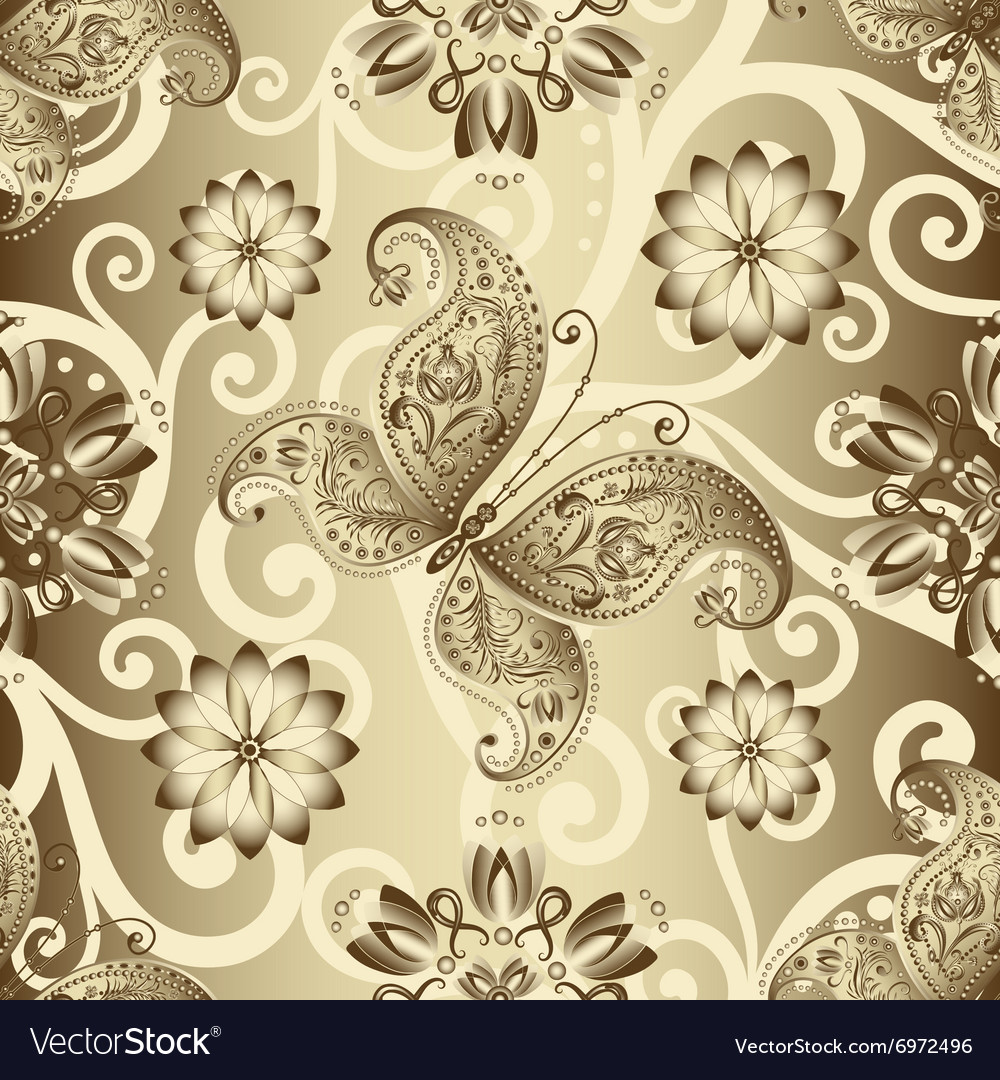 Seamless silvery pattern vector