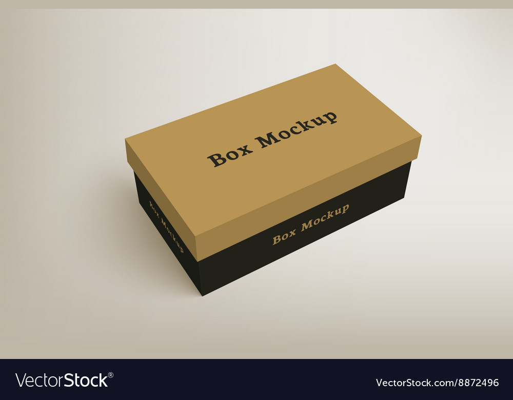 Shoes product packaging mockup box 1 vector