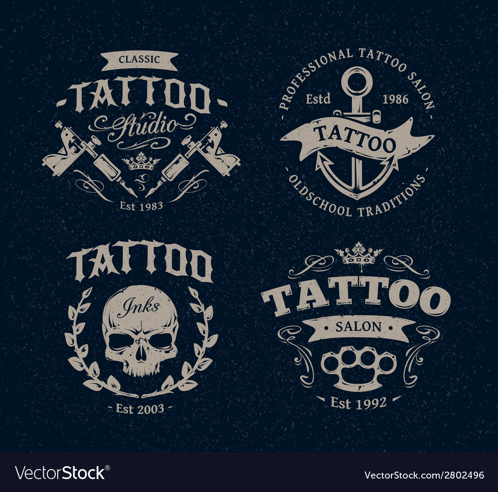 Tattoo emblems 1 vector