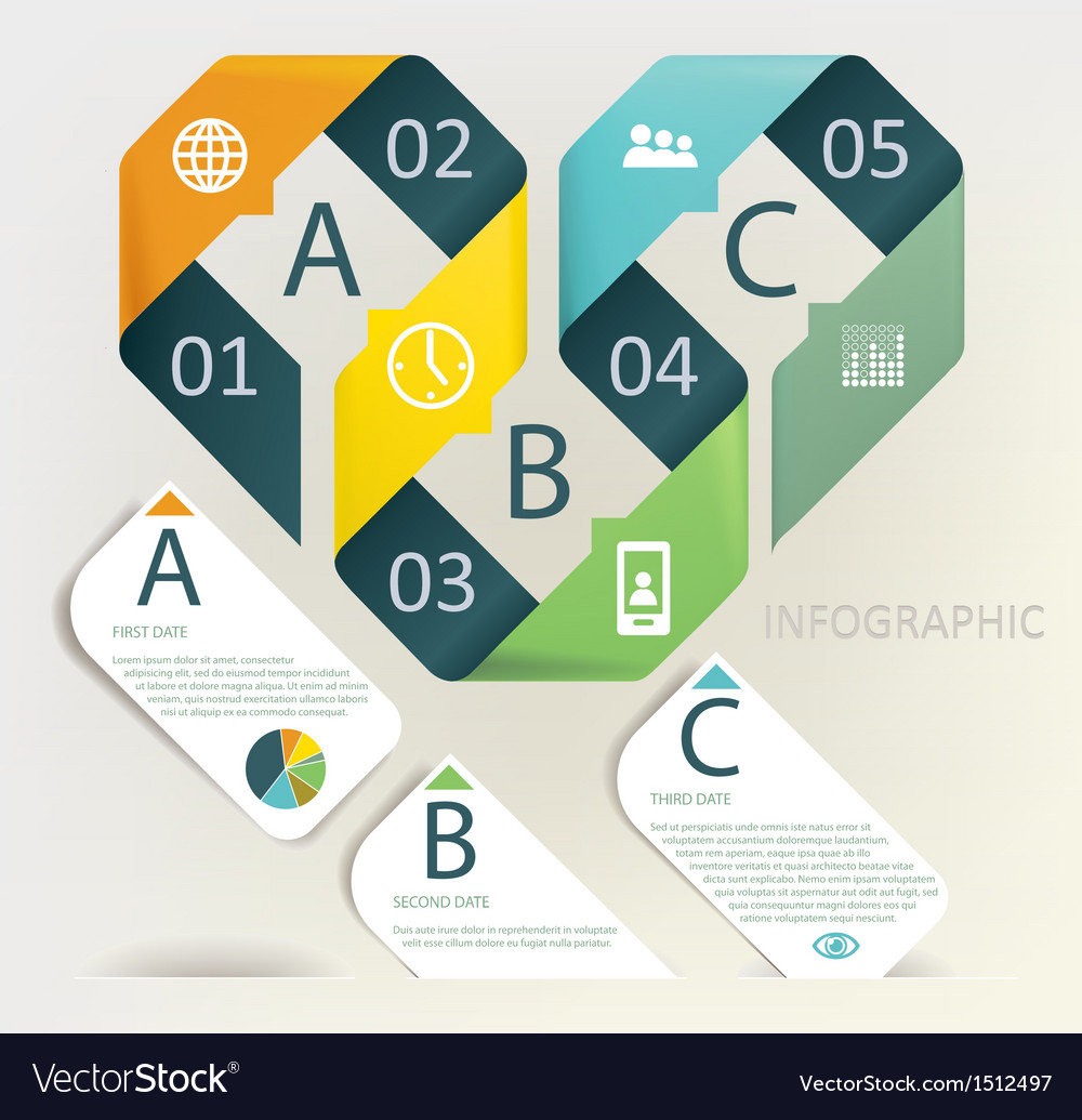 Infographics  five step process vector