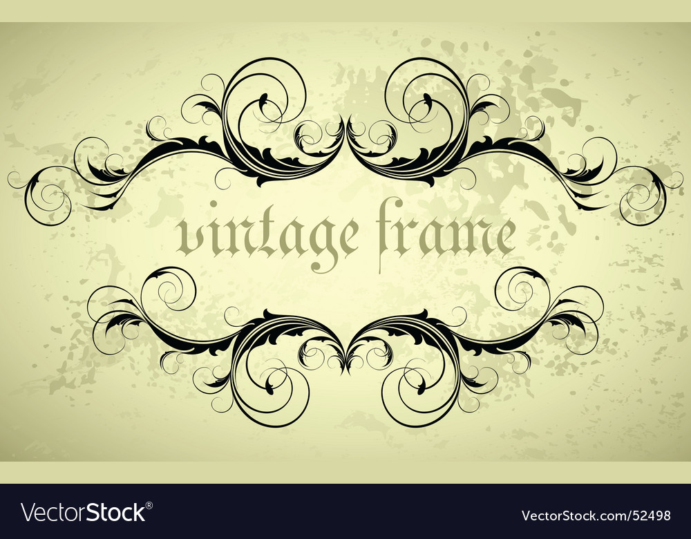 Ornate banner vector