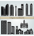 Calgary landmarks and monuments vector image