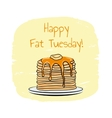 Fat Tuesday vector image vector image