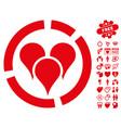geo targeting diagram icon with valentine bonus vector image