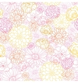 Wedding bouquet flowers seamless pattern vector image
